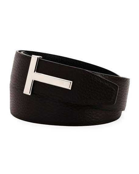 f29e1084461 T-Buckle Reversible Leather Belt by TOM FORD at Neiman Marcus