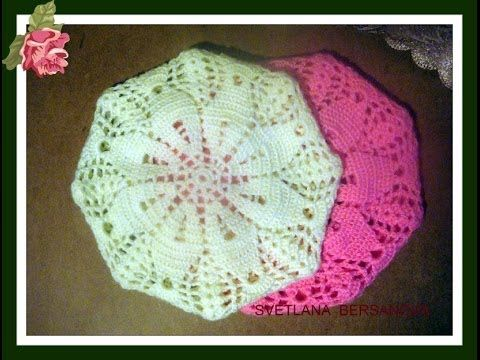 Spring Beret Knitting Pattern : ??? ??????? ????? ???????? How to knit crochet beret ...