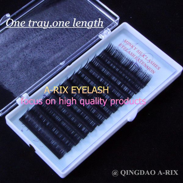 0.20*D 10pc/lot  8-15mm length excellent quality top cosmetic makeup tool A-RIX mink silk soft lash extension individual lash #Affiliate
