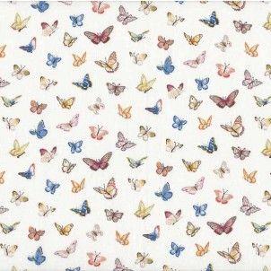 http://www.plushaddict.co.uk/makower-summer-garden-butterflies-cream.html Makower - Summer Garden Butterflies Cream