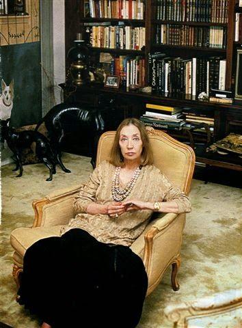 Oriana Fallaci foto di Oliviero Toscani