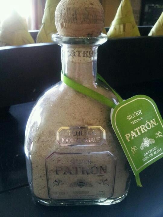 Spring Break Panama City Beach. Drank it down, filled it back up with sand; Homemade souvenir. GREAT idea!
