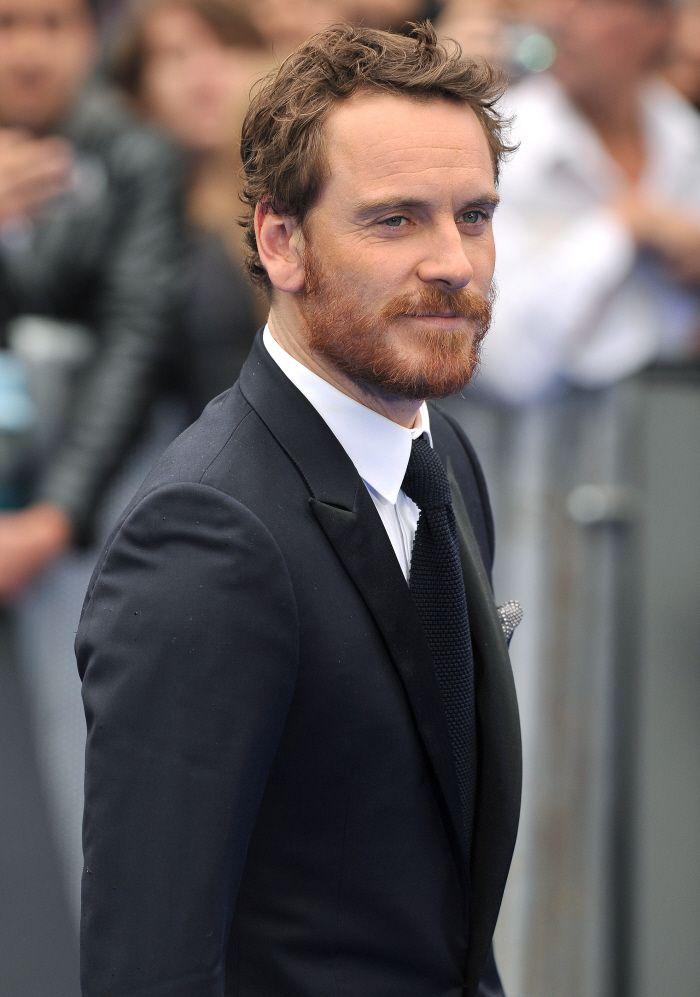 Fassbender's ginger beard. Hot.