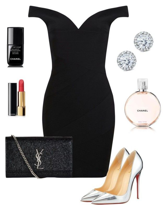 """""""."""" by owl00 ❤ liked on Polyvore featuring Miss Selfridge, Christian Louboutin, Kobelli, Yves Saint Laurent and Chanel"""