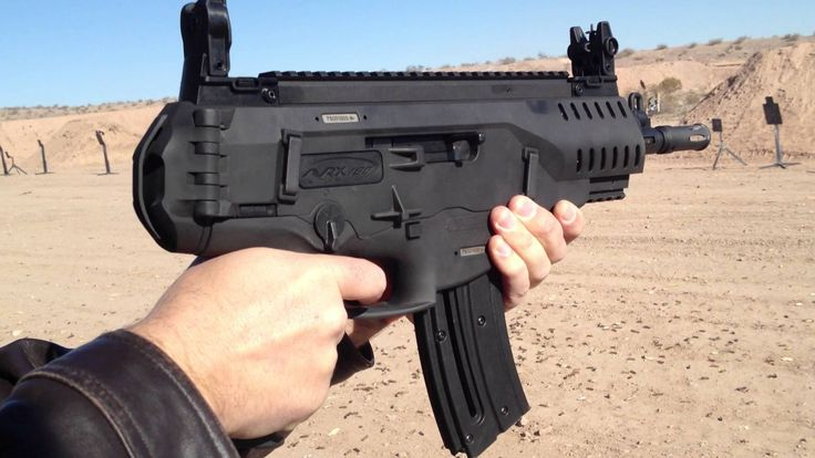 Firing the Beretta ARX-160 at SHOT Show