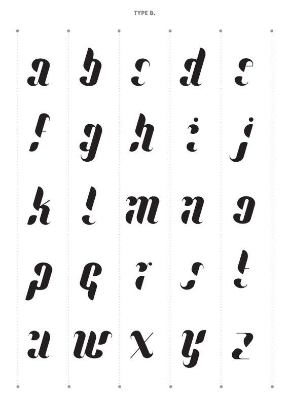 Lullaby Font by Ania Szerszen, via Behance