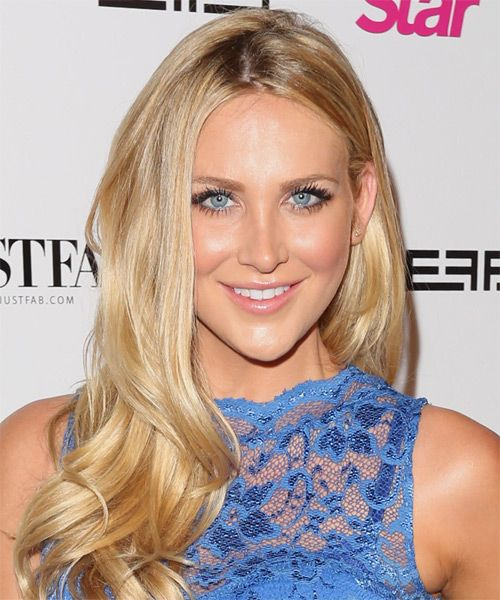 Stephanie Pratt Hairstyle - Formal Long Straight. Click on image to try on this hairstyle and view styling steps!