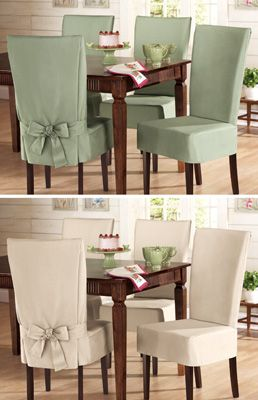 Sure- Fit Cotton Dining Chair Slip Covers