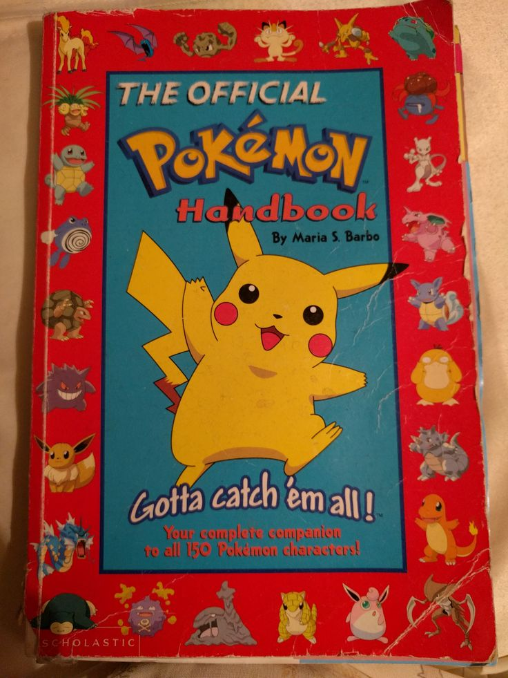 The Official Pokemon Handbook - One of the first books I got bought for me because 'you always watch it on TV'. More of an encyclopaedia, but because it was linked to something I loved, I read it cover to cover and memorised every single fact.
