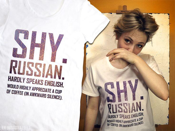 shy russian t-shirt