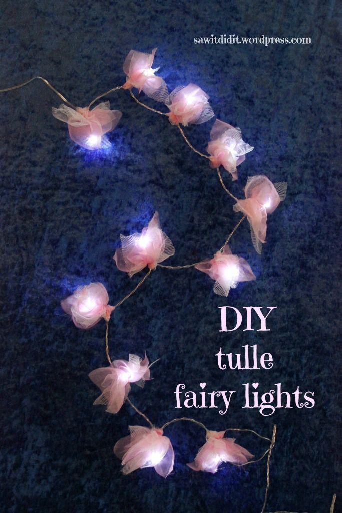Fairy Garden Diy Tulle Fairy Lights