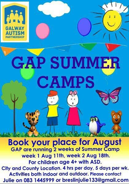Some places left at Turloughmore Summer Camp 2014 contact Julie 0831445999