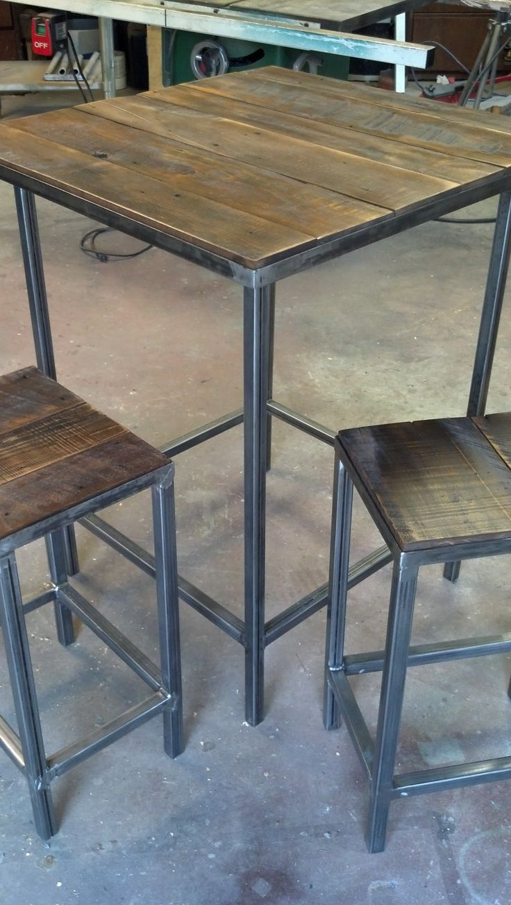 Modern/Rustic+Bar+Set++the+Starter+by+DBaileyBuilt+on+Etsy,+$525.00