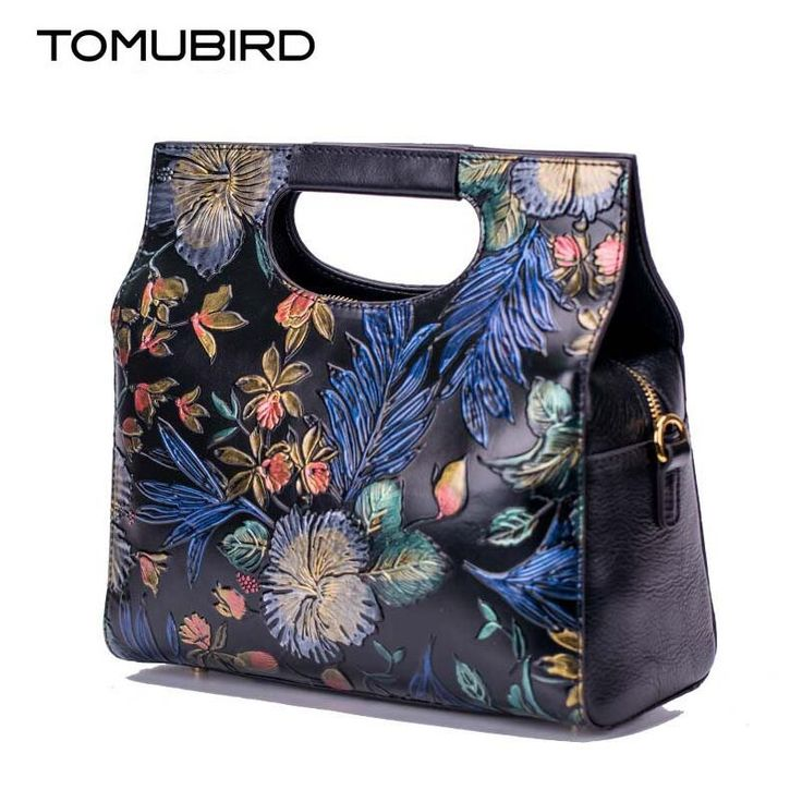 164.14$  Buy now - http://ali5z8.worldwells.pw/go.php?t=32773989085 - New women genuine leather bag brands Superior cowhide embossed Flowers women handbags fashion leather tote bag