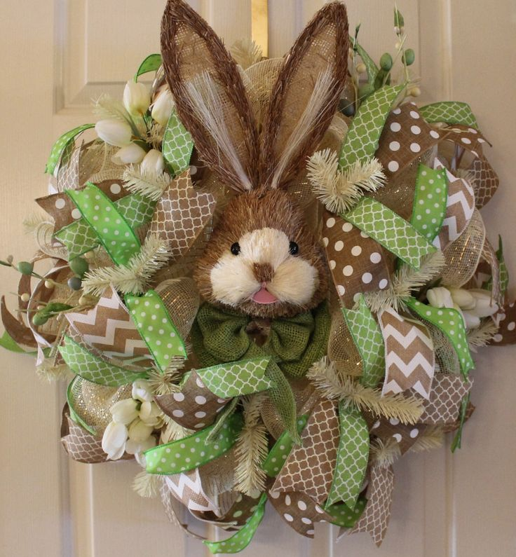 Wreath, Spring Wreath, Easter Wreath, Bunny Wreath, Home Decor, Deco Mesh Wreath by WruffleWreathsbyLana on Etsy https://www.etsy.com/listing/223244882/wreath-spring-wreath-easter-wreath-bunny