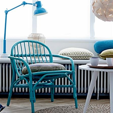 Bloomingville Sea Green Bamboo Chair
