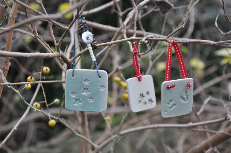 Ceramic Christmas ornaments! Perfect idea for home decoration!