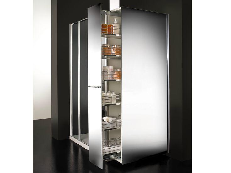 Box doccia in cristallo con vano estraibile TWIN MINI by VISMARAVETRO design Idelfonso Colombo