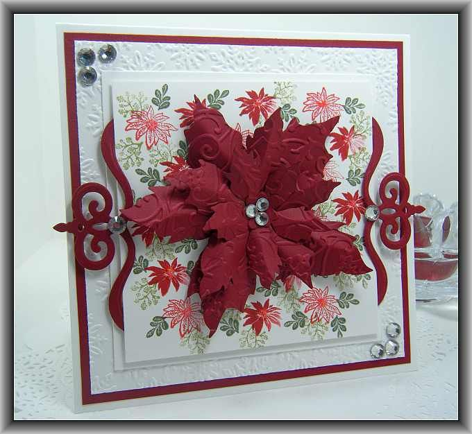 Superior Rubber Stamp Card Making Ideas Part - 8: Pretty Poinsettiau2026. Cardio CardsXmas ...