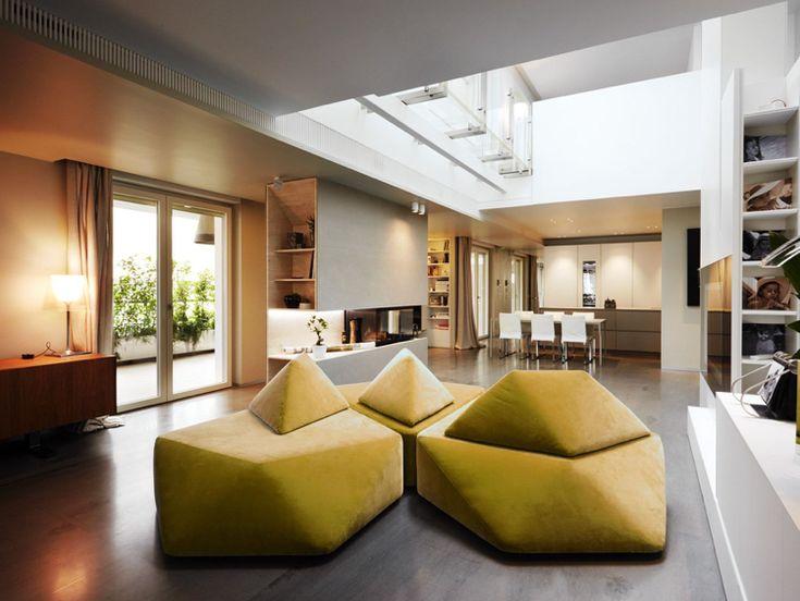 Außergewöhnliche Wohnideen - Moderne Wohnlandschaft zum ...