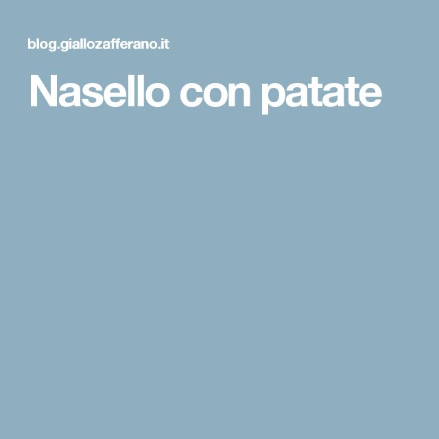 Nasello con patate