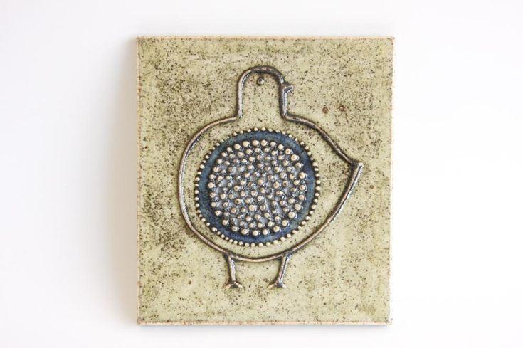 画像1: RORSTRAND ロールストランド Sylvia Leuchovius の小鳥陶板