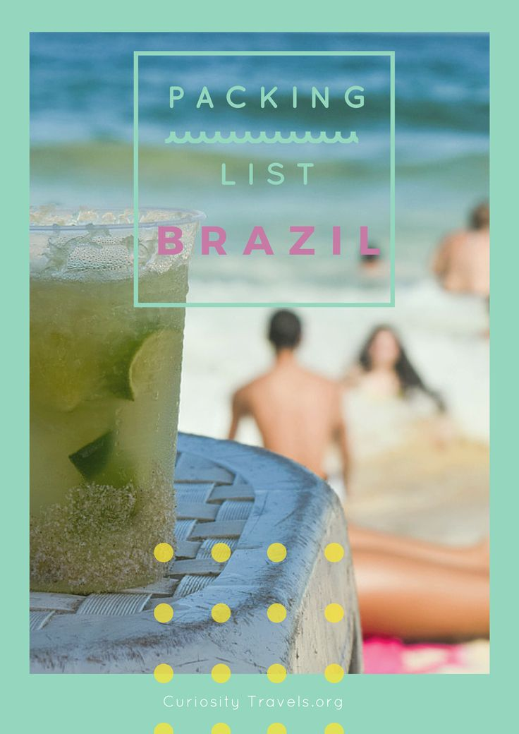 The ultimate packing list Brazil for backpackers. What to bring and what to buy before traveling Brazil.