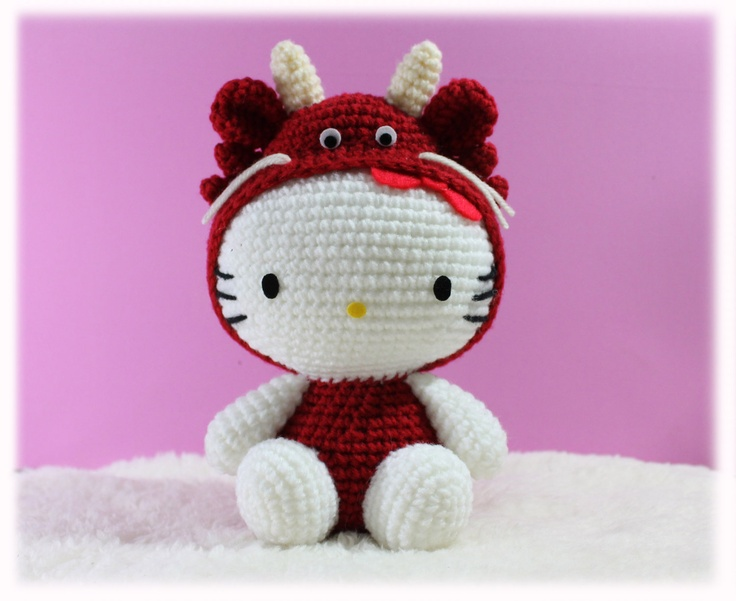 PDF Pattern Kitty in Dragon Costume / Chinese Zodiac di furinn