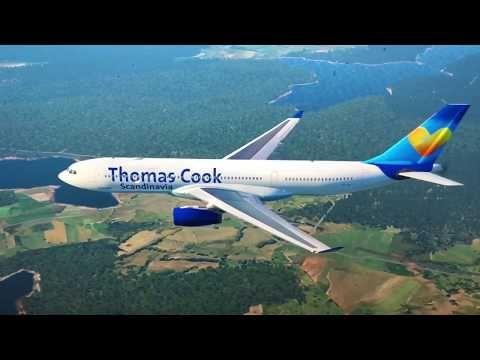 X-Plane 11) Thomas Cook Scandinavia (A330-200) landing in