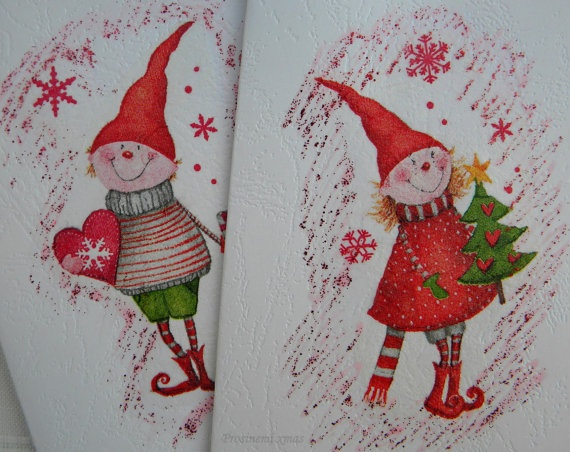 Christmas card sets of decoupage cardsChristmas by prosinemi, €8.00