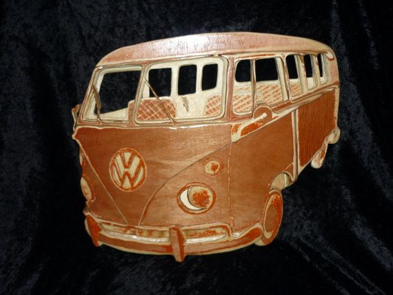 20% off anything offer for cyber monday. vw split screen campervan wall plaque 3d hand by andyswoodnart, £224.00