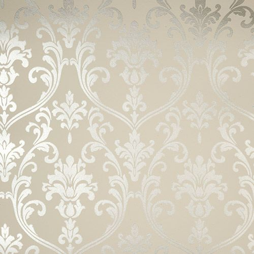 Palladio Wallpaper Mink. Living Room wallpaper idea