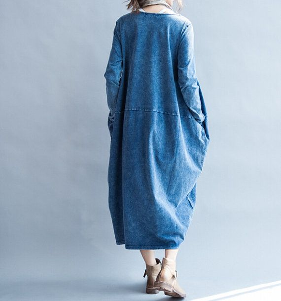 """Fabrics; cotton Color; #blue, dark gray Size Shoulder 39cm / 15 """" Bust 112cm / 44 """" Sleeve 58cm / 23 """" Length 112cm / 44 """" Have any questions please contact me and I will ... #malieb"""