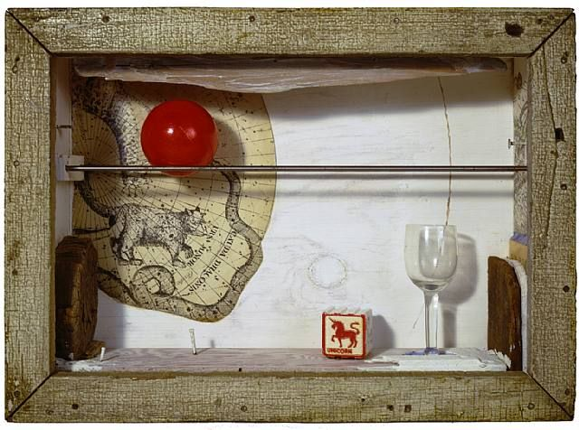 """Untitled"" by  Joseph Cornell - 1958 box construction"