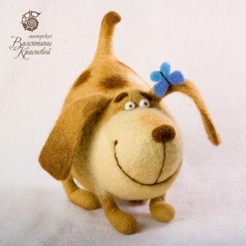 Cute felted puppy dog!