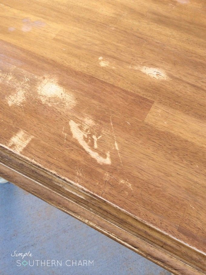 A painting secret you NEED to know and a General Finishes Java Gel Stain table | Simple Southern Charm