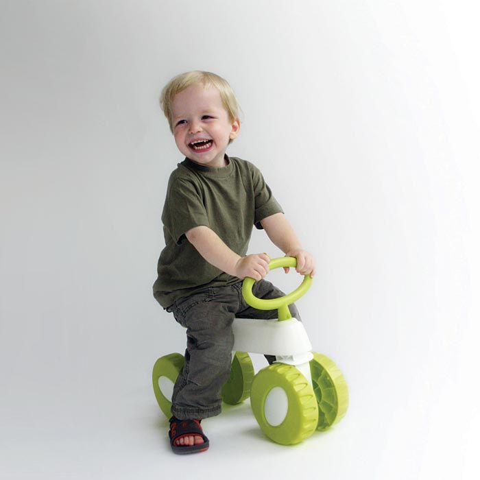 Vrooom, there you go! #Hoppop #Otto Lime-White #toddler bike, available at #Babycare