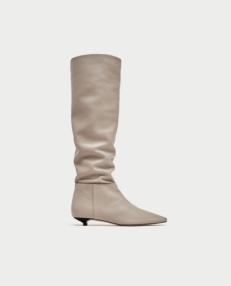FLAT LEATHER BOOTS - NEW IN-WOMAN | ZARA Finland