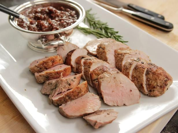 Ina Garten's got weeknight dinners covered, pro-style! Serve this Cider-Roasted Pork Tenderloins Recipe with Ina's Roasted Plum Chutney.