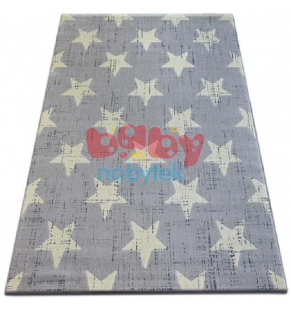 Detský koberec Hviezdy - sivý