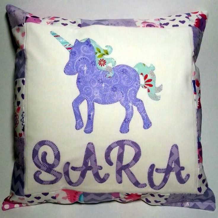 Personalised Applique Cushion - pinned by pin4etsy.com