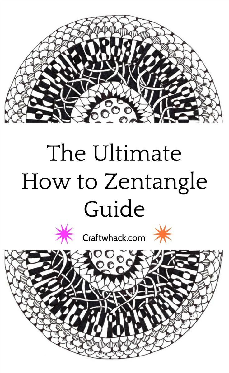 Learn how to Zentangle, including directions and ideas on getting started, what materials to use, and Zentangle inspiration.