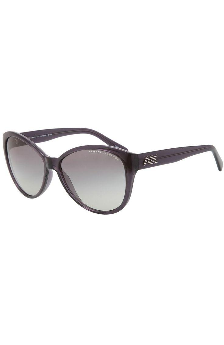 Striped Logo Cat's Eye Sunglasses - Sunglasses - Womens Accessories - Armani Exchange
