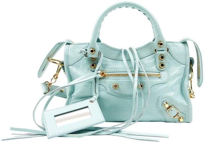 Balenciaga City Blue Leather Handbag Di 2020