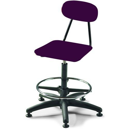 """24""""-29""""H Viking Adjustable Stool with Glides - Burgundy by Smith System. $274.05. e most often requested features of a classroom chair. For starters, easy care, thanks to the seat and back's tough, smooth finish that resists stains and scratches. Next, there's durability, exemplified by frame and legs finished in either chrome or a tough powder-coat. Finally, easy storage: the Viking Chair can be stacked or turned upside down and put on a desktop or table."""