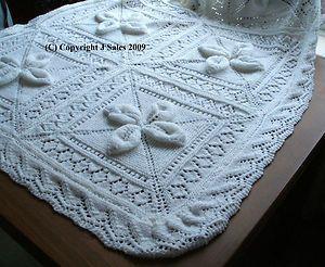 Baby S Cot Pram Cover Blanket Knitting Pattern Laminated