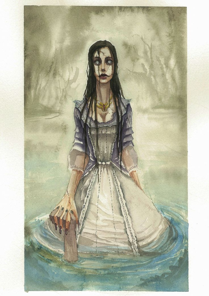 illustration_dead lady_watercolor