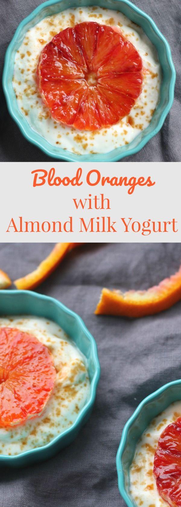 Blood Orange Almond Milk Yogurt.