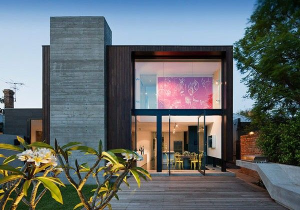 #Contemporary and #Traditional Mixed #Home Facade Down Under