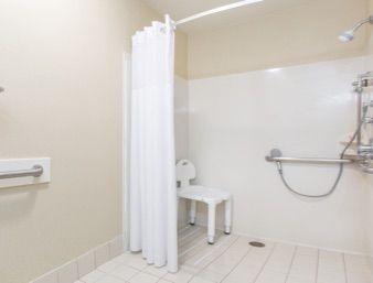 ADA Bathroom at the Days Inn San Francisco International Airport West in San Bruno, California